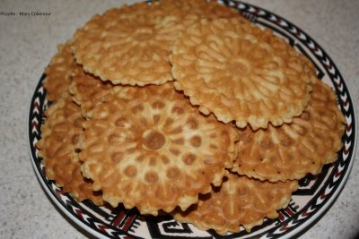 Waffle Cookie, Pizzelle, Vanilla