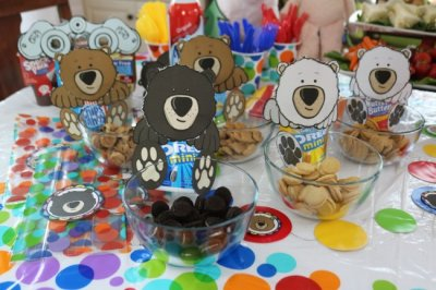 Chocolate Teddy Bear Graham Snack Pack