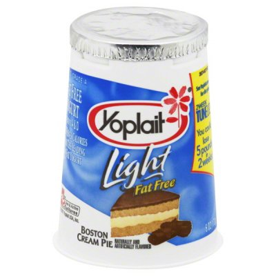 Yogurt, Light, Non-Fat,  Boston Cream Pie