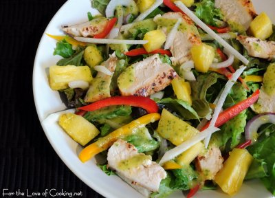 Grilled Chicken Salad, no dressing