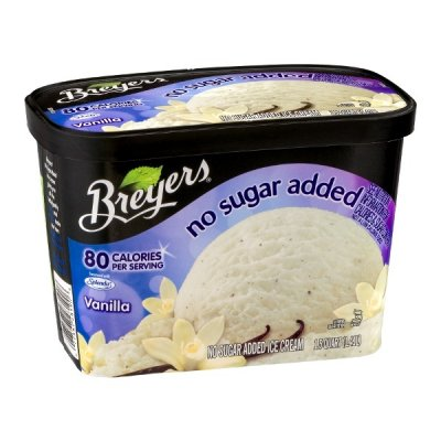 Ice Cream, Light, Extra Creamy, No Sugar Added, Vanilla