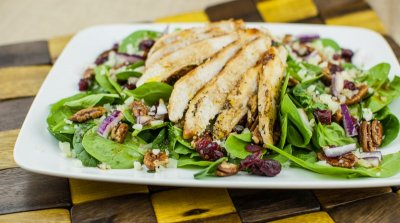 Cranberry Pecan Salad with Grilled Chicken