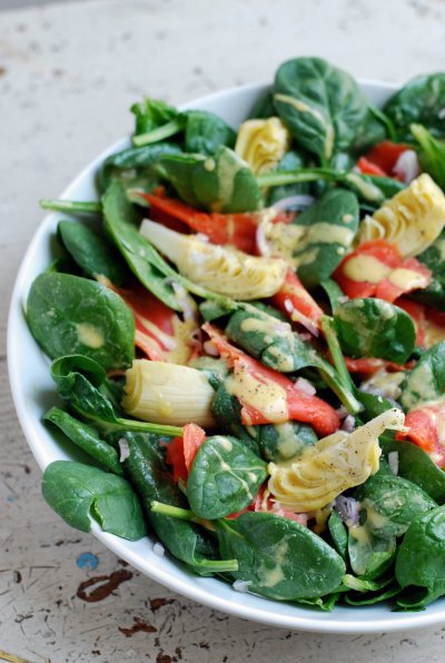 Spinach & Fresh Fruit Salad, Small