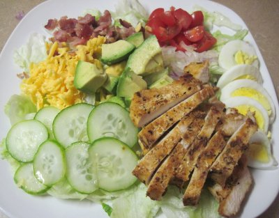 Carb-Watch Grilled Chicken Salad