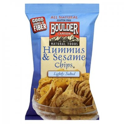 Hummus & Sesame Chips, Lightly Salted