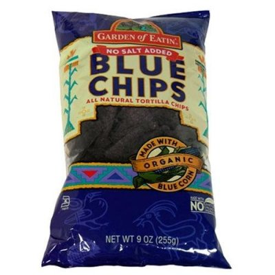 Tortilla Chips, Blue Chips, No Salt Added