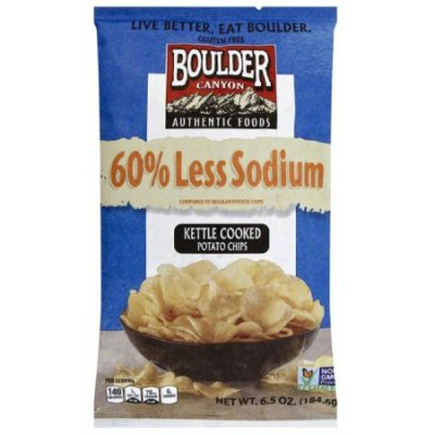 60% Less Sodium Kettle Cooked Potato Chips