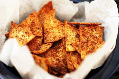 Tortilla Chips, Baked, Yellow Corn