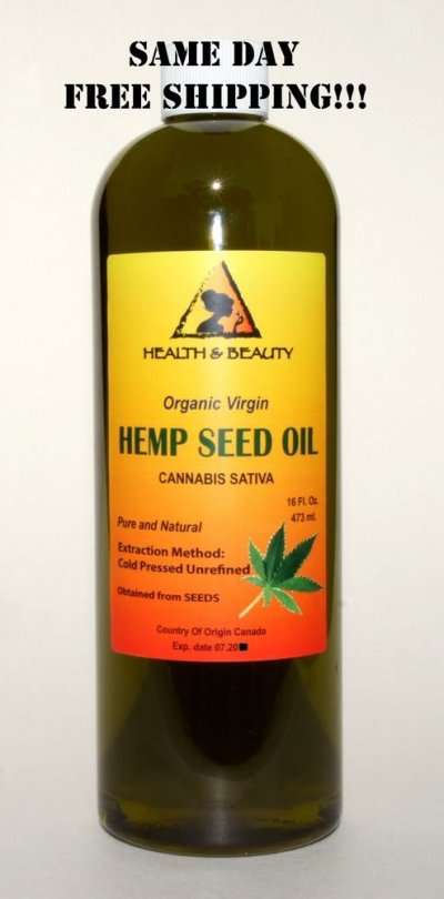 Hemp Oil, Organic, Cold Pressed