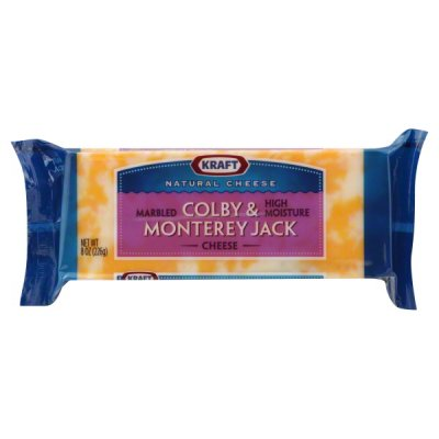 Cheese, Marbled High Moisture, Colby & Monterey Jack