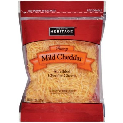 Mild Cheddar Cheese, Fancy Shredded