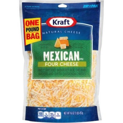 Mexican Four Cheese Blend, Finely Shredded, 2 Cups