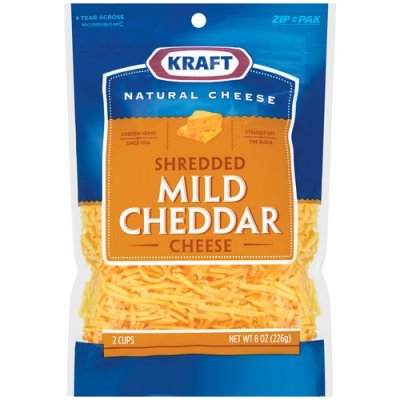 Natural Cheddar Cheese, Shredded