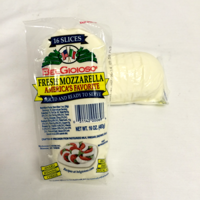 Mozzarella Cheese Log - Sliced