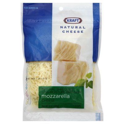 Natural Cheese, Shredded Low Moisture Part Skim Mozzarella Cheese