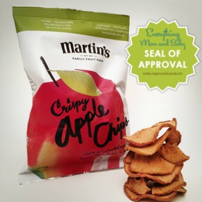 Organic Apple Crisps With 100% Natural Cheese Puffs