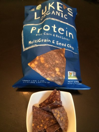Organic Tortilla Chips, Blue Corn With Flax Seed
