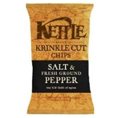 Natural Gourmet Potato Chips, Krinkle Cut, Salt & Fresh Ground Pepper