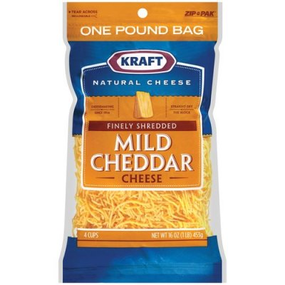 Cheese, Finely Shredded. Mild Cheddar