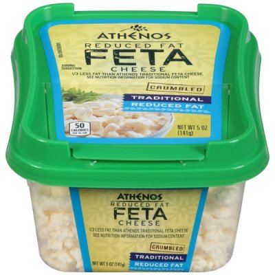 Feta Cheese, Crumbled, Reduced Fat