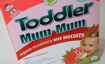 Rice Biscuits, Organic, Strawberry