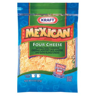 Cheese, Shredded 4 Cheese Blend Mexican