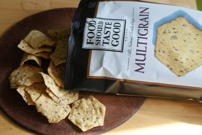Multi-Grain Tortilla Chips, Sea Salt With Flax Seeds