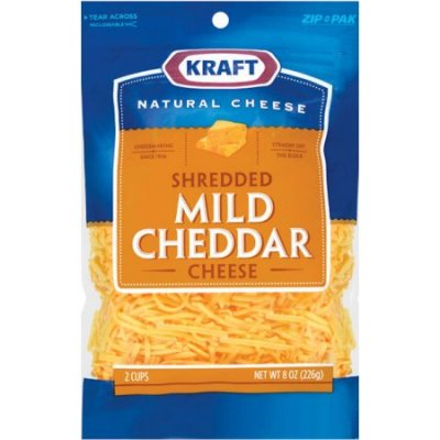 Natural Shredded Mild Cheddar Cheese
