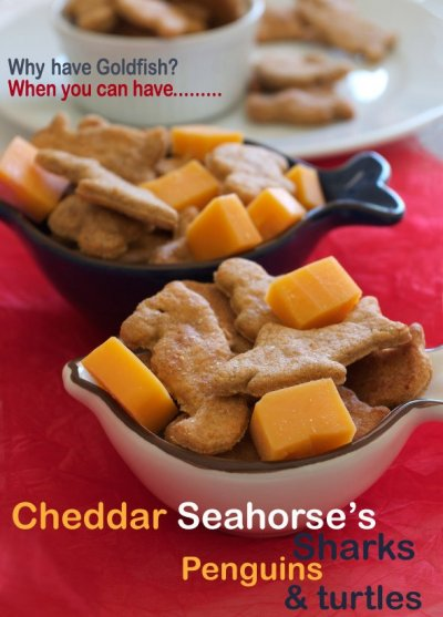 Baked Snack Crackers, Colors Cheddar