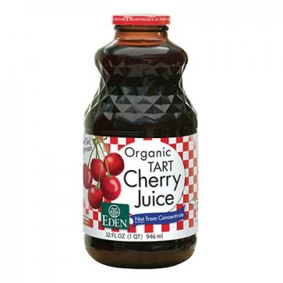 Cherry Juice (Montmorency tart cherries), Organic - amber glass