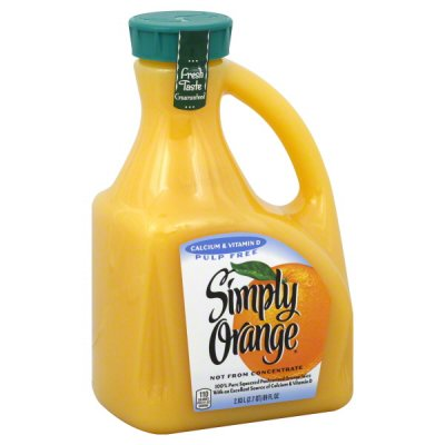 Orange Juice, Calcium, Pulp Free