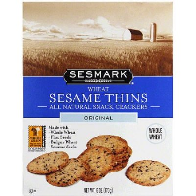 Sesame Thins Wheat Snack Crackers