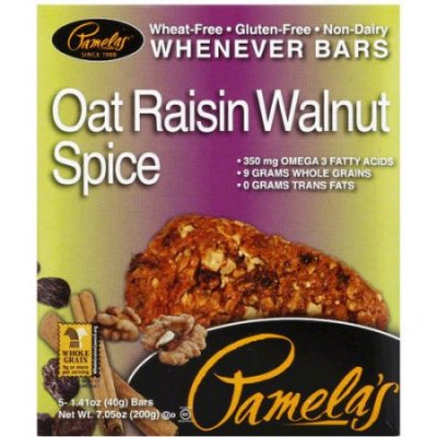 Whenever Bars, Oat Raisin Walnut Spice