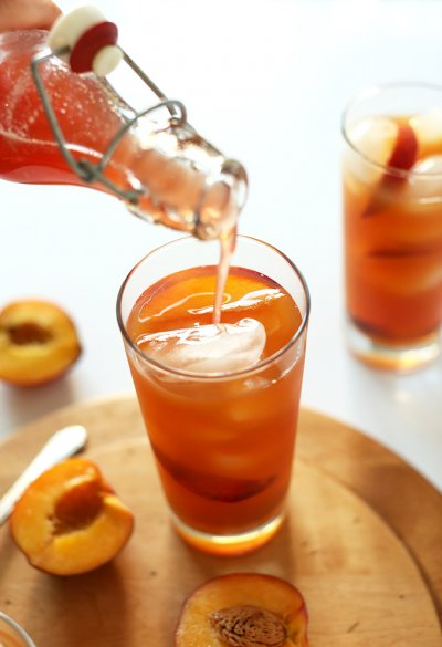 Peach Flavor Iced Tea