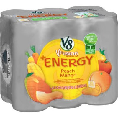 Vegetable & Fruit Juice, Peach Mango, + Energy