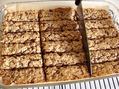 Chocolate Chip Chewy Baked Whole Grain Snack Bars