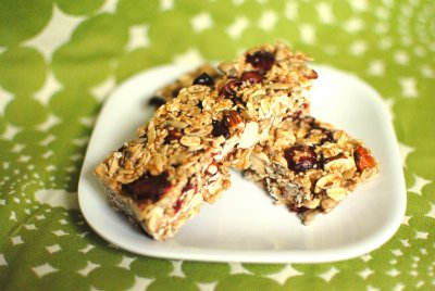 Nut Bars, Almonds, Cashews And Walnuts With Cocoa Drizzle And Sea Salt