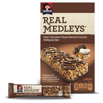 Real Medleys, Dark Chocolate Chunk Almond Coconut Multigrain Bar
