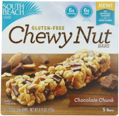 Gluten Free, Chocolate Chunk Chewy Nut Bars