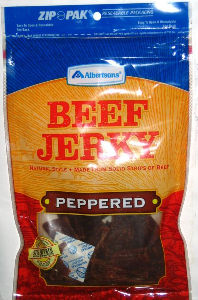 Beef Jerky, Peppered, Organic