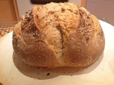 Healthy Multi-Grain Bread With Sesame & Poppy Seeds