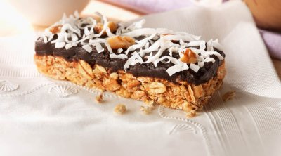 Layered Granola Bars, Nutty Double Chocolate