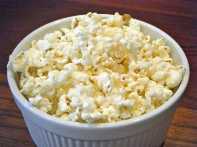 Popcorn with White Cheddar Cheese