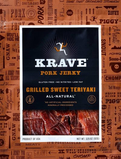 Pork Jerky, Grilled Sweet Teriyaki