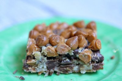 Snack Bars, Fudgy Chocolate Mint