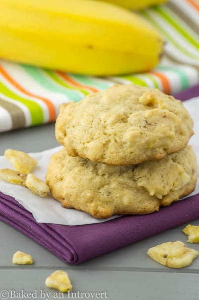 Soft Baked Banana Bread Cookies