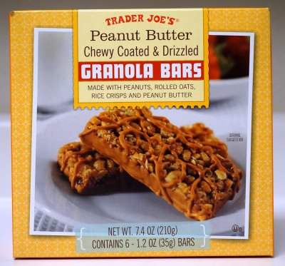 Granola Bars - Peanut Butter Chewy Coated & Drizzled