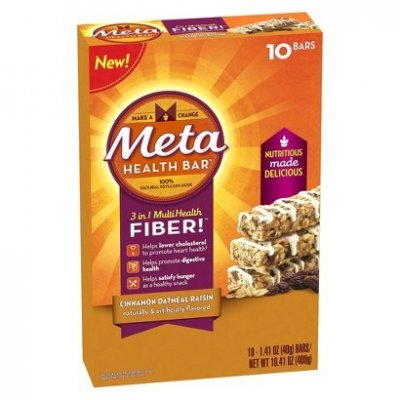 Meta Health Bar, Cinnamon Oatmeal Raisin