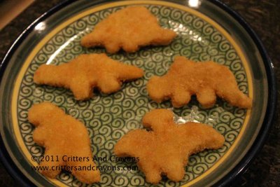 Chicken Breast Nuggets, Dinosaur Shapes