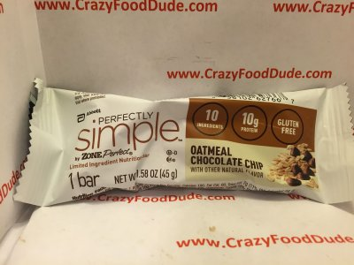 Perfectly Simple by Zone Perfect, Oatmeal Chocolate Chip